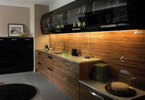 black and wood kitchen cabinets black in the contemporary kitchen design black kitchen