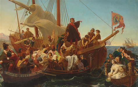 prim painting blog columbus ohio painting company blog the departure of columbus from palos painting by emanuel