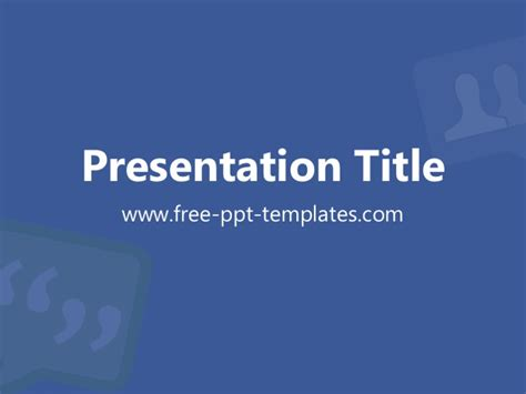 facebook ppt template