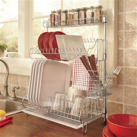 dish rack and spice rack for small spaces minimalism