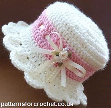 crochet pattern galore crochet patterns galore brimmed baby hat
