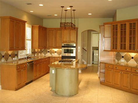 Kitchen Color Design Ideas Honey Oak Kitchen Cabinets Wall Paint Inspirations