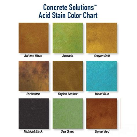 concrete acid stain color chart acid stain rhino linings concrete coating solutions