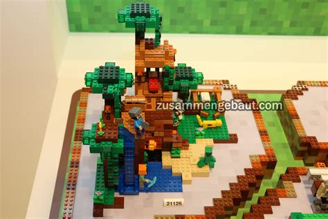 lego minecraft house toy fair 2016 five new lego minecraft sets on display