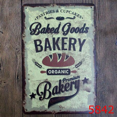 Vintage Decor Vintage Wall Poster 30x20cm baked goods bakery vintage home decor tin sign wall decor metal sign vintage poster