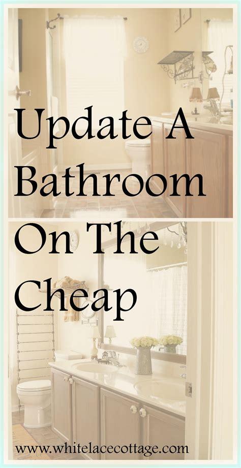 update bathroom mirror diy bathroom mirror frame update white lace cottage