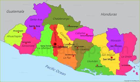 el salvador map el salvador map map of el salvador annamap