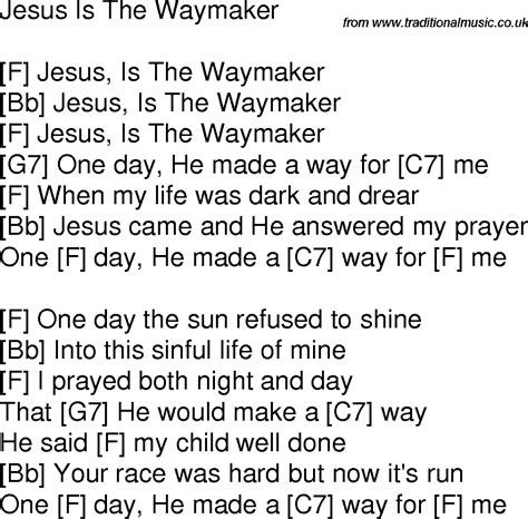 song for jesus time song lyrics with guitar chords for jesus is the