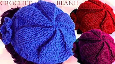 videos de como hacer gorros en crochet como tejer gorro boina a crochet o ganchillo en todas las