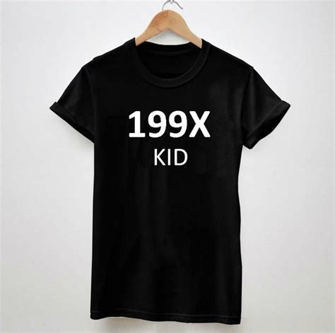 Kid 199x Top 199x kid letters print tshirt shirt casual cotton for big size top tees