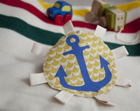 diy crinkle baby diy anchor crinkle tag with recycled baby wipe bag