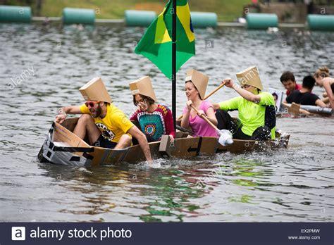 linlithgow cardboard boat race 2018 cardboard boat race stock photos cardboard boat race