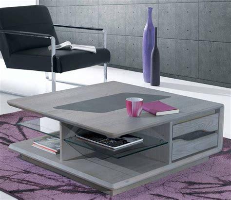 Grande Table Basse Carree by Table Basse Carr 233 E Avec Tiroirs C 233 Ram Meubles Bouchiquet
