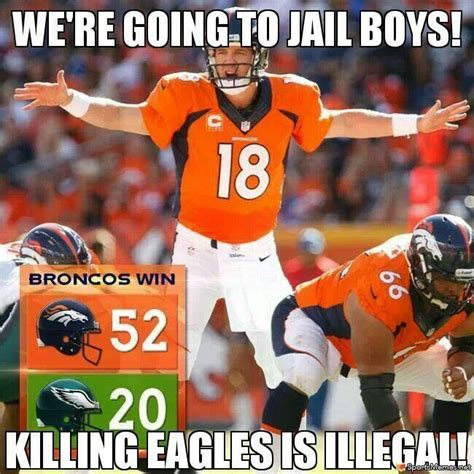 Broncos Win Meme - manning beats eagles meme