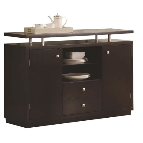 coaster furniture 103165 libby 2 door dining server buffet in cappuccino homeclick com coaster libby 2 door dining server buffet with floating
