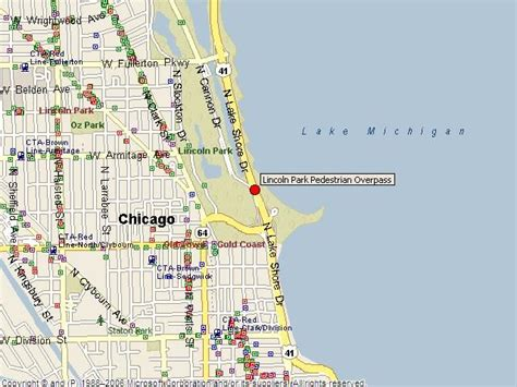 where is lincoln park located historicbridges org lincoln park passerelle map