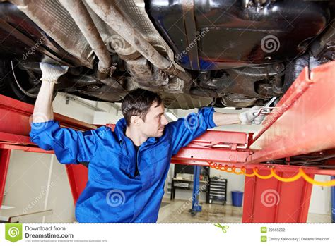 auto mechanic  wheel alignment work  spanner stock
