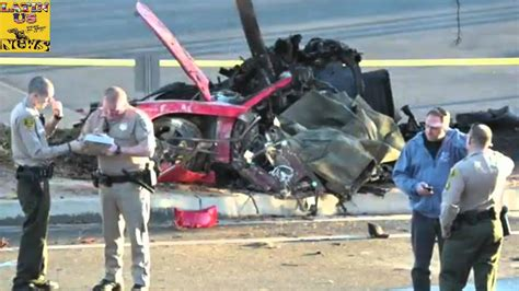 paul walker porsche crash paul walker dies car crash footage of paul horrible car