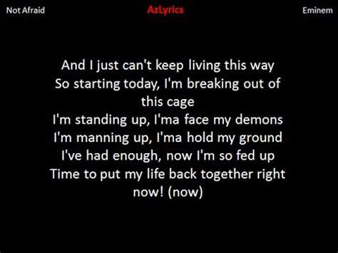 eminem i m not afraid lyric eminem i m not afraid lyrics youtube