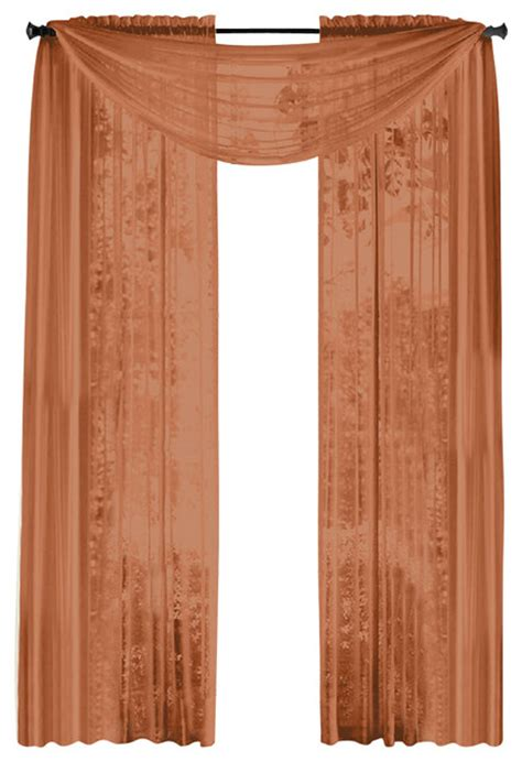rust curtain panels hlc me pair of sheer panels window treatment curtains