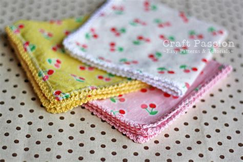 Handmade Handkerchief Patterns - lace trim handkerchief free pattern tutorial this is