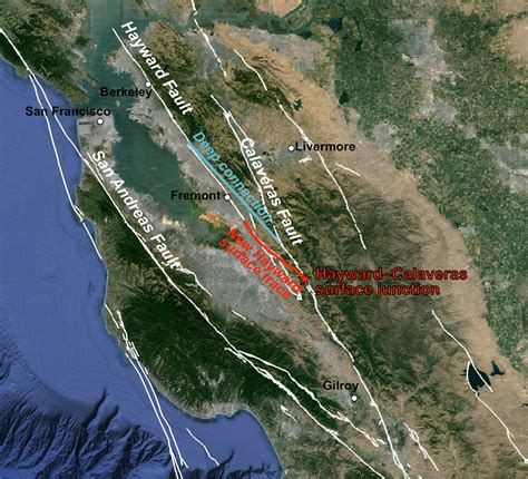 earthquake line image gallery hayward fault zone