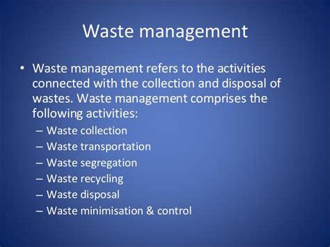 waste management ppt waste management