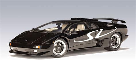 Lamborghini Diablo Black Autoart Lamborghini Diablo Sv Black 70081 In 1 18