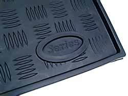 Rubber Mat With Lip by Rubber Floor Mat Set For Land Rover Series Black Rubber