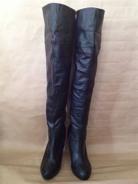 shoedazzle boots size 9 5 shoedazzle quot akari quot black the knee thigh high