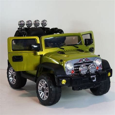 Power Wheels Green Jeep Luxurious Limited Edition Jeep Cj7 12v Battery 2 Motors