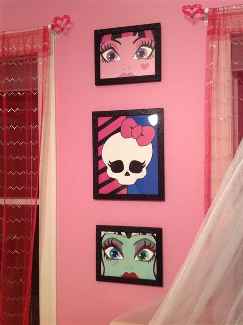 monster high bedroom decorating ideas 1000 images about monster high girls room on pinterest