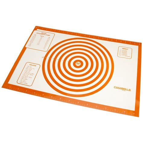 Pastry Mat Silicone by Casabella 24 X 16 Inch Silicone Baking Pastry Mat