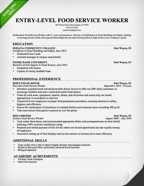 cover letter for bartender position free resume templates