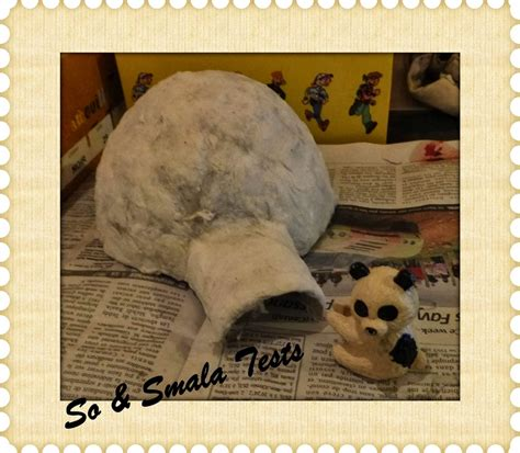 How To Make A Paper Mache Igloo - igloo en papier mach 233 sobidouilles
