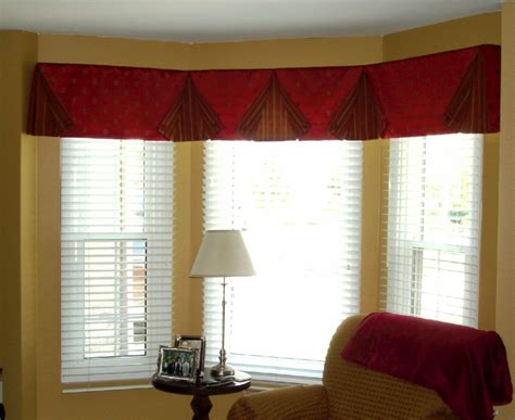 fresh stunning valances for bay windows in living ro 16537
