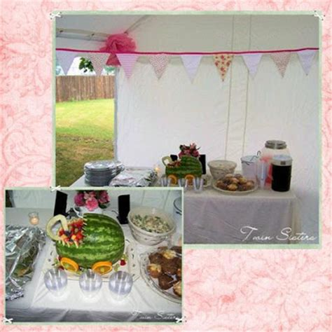 Outdoor Baby Shower Food Ideas by Outdoor Shabby Pink Baby Shower