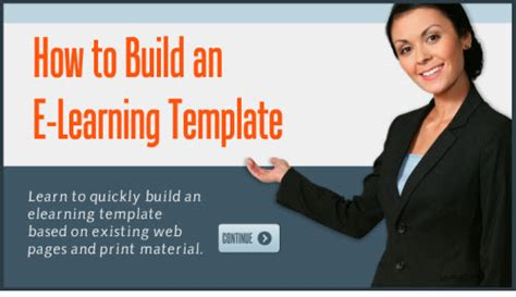 how to build an e learning template with no money down