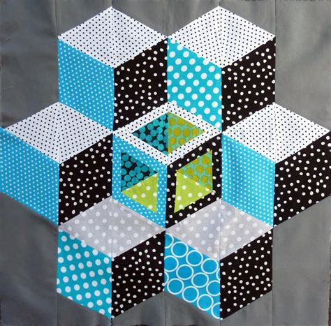 Free Tumbling Blocks Quilt Pattern by You To See Tumbling Blocks On Craftsy