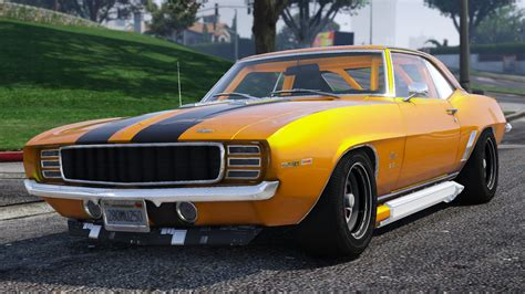 chevrolet ss camaro 1969 1969 chevrolet camaro ss add on gta5 mods