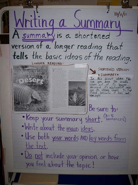 picture books to teach summarizing great anchor chart for summarizing this 4th grade