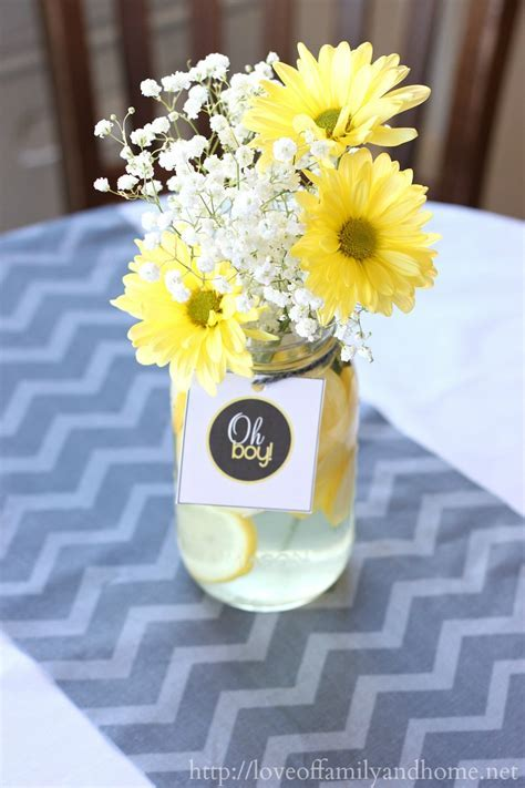 Gray & Yellow Baby Shower Decorating Ideas   Love of Family & Home