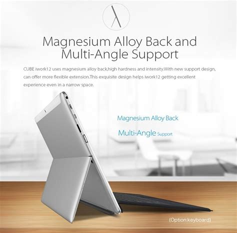 Stand Aluminium Untuk Tablet Pc Silver 6rehpb indo jaya store cube iwork12 tablet pc dual os windows 10 android 4gb 64gb 12 2 inch silver