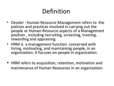 Human Resource Management Notes For Mba Students by L 1 Hrm