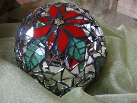 christmas balls black grout and glass beads on pinterest