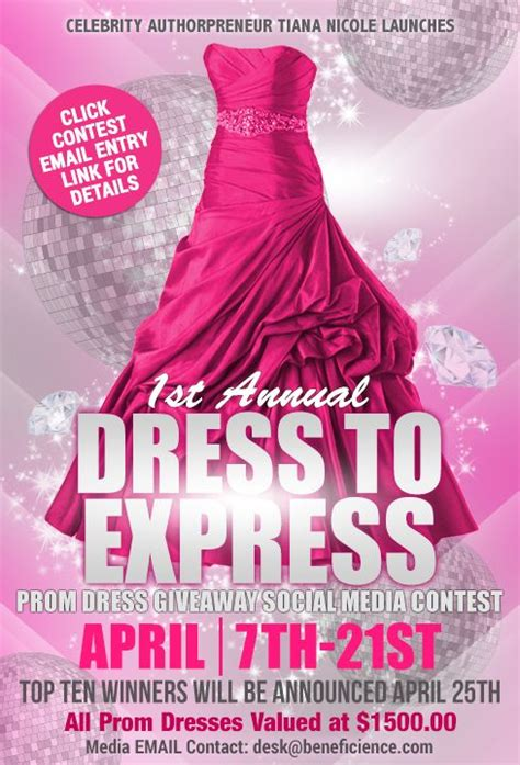 Prom Sweepstakes - celeb authorpreneur launches promdressedtoexpress 2017 prom dress giveaway social