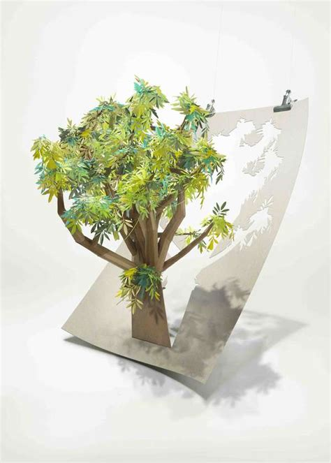 How To Make A Bush Out Of Paper - tree saving paper the paper cut out tree sculpture from