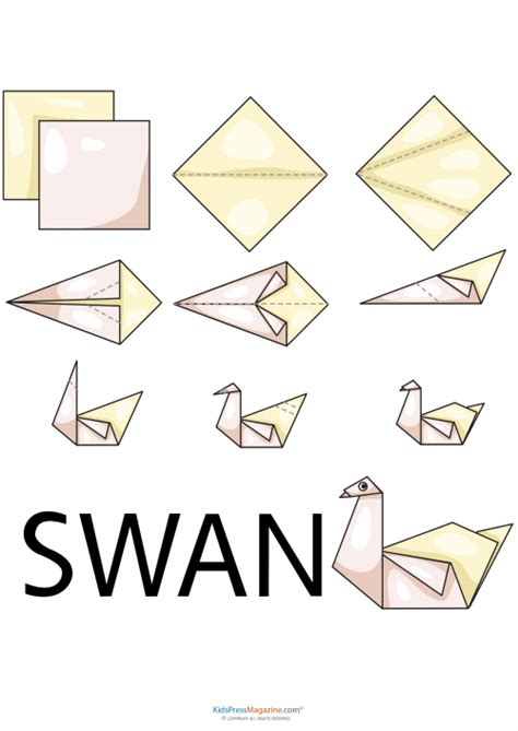 Basic Origami Animals - easy origami swan origami swan stress reliever and