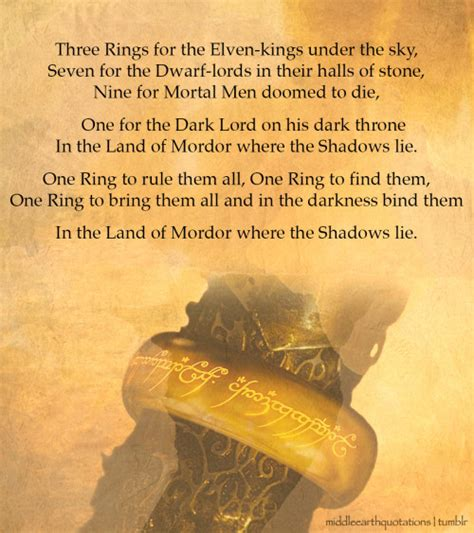 one ring books lord of the rings quotes quotesgram