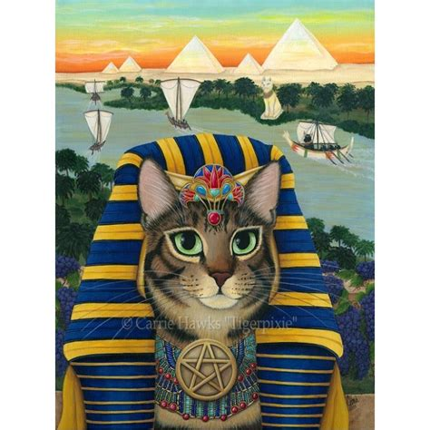 egyptian pharaoh cat king cat egyptian  bastet egypt